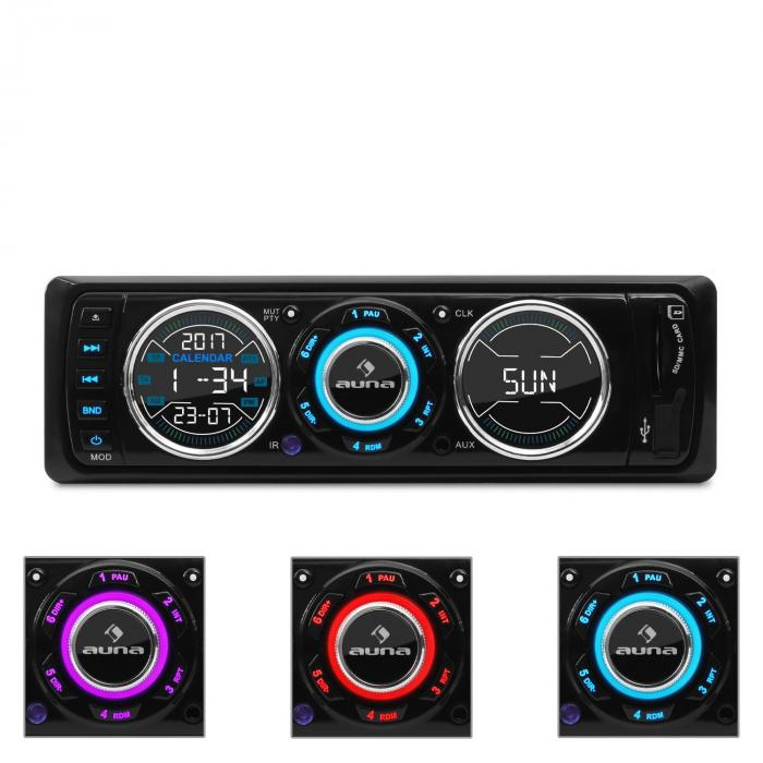 Auna MD-180 autorádio UKW RDS USB SD MP3 AUX Design
