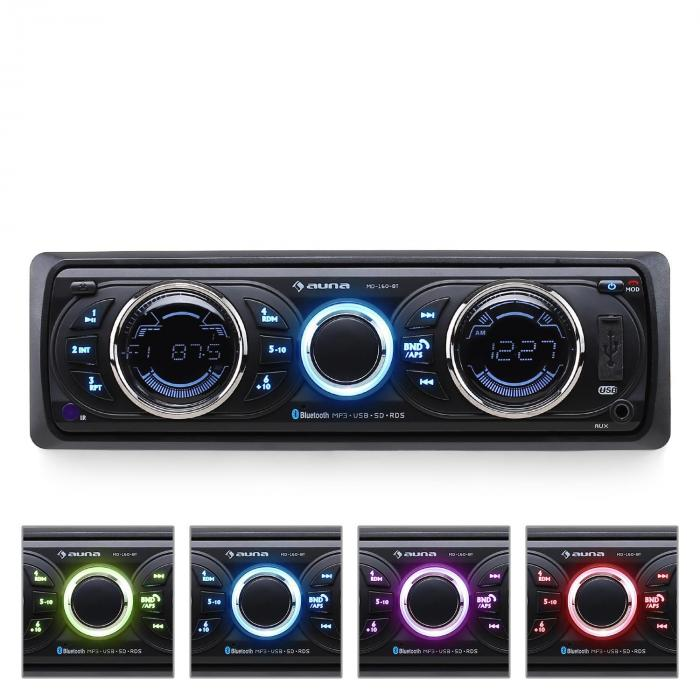 Auna MD - 160 BT autorádio, MP3, USB, RDS,SD, AUX, bluetooth
