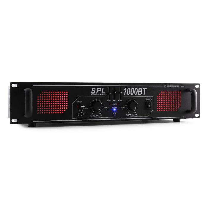 SPL 1000BT PA усилвател BLUETOOTH AUX EQ 1000W