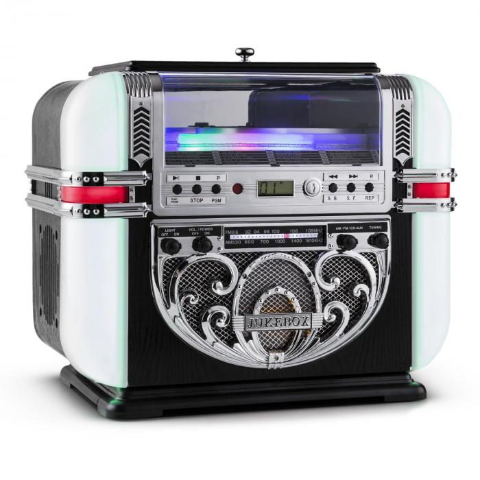 Ricatech RR700, retro jukebox, FM / AM, CD, AUX, LED
