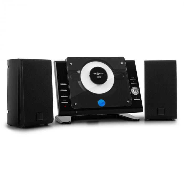 Vertical 70, stereo systém, CD, USB, MP3, AUX, čierny