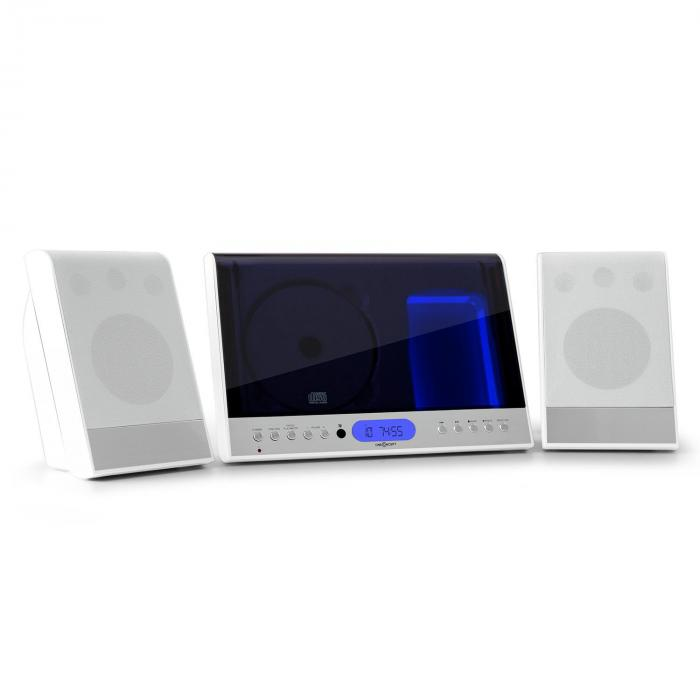 Oneconcept Vertical 90, stereo systém, CD, USB, MP3, SD, AUX, bílý