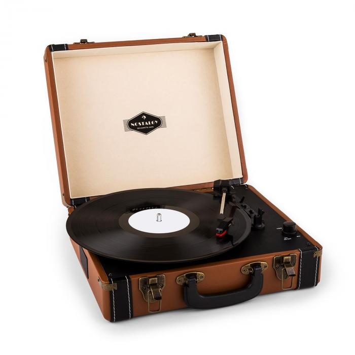 Jerry Lee Retro Gramofon LP USB rjav