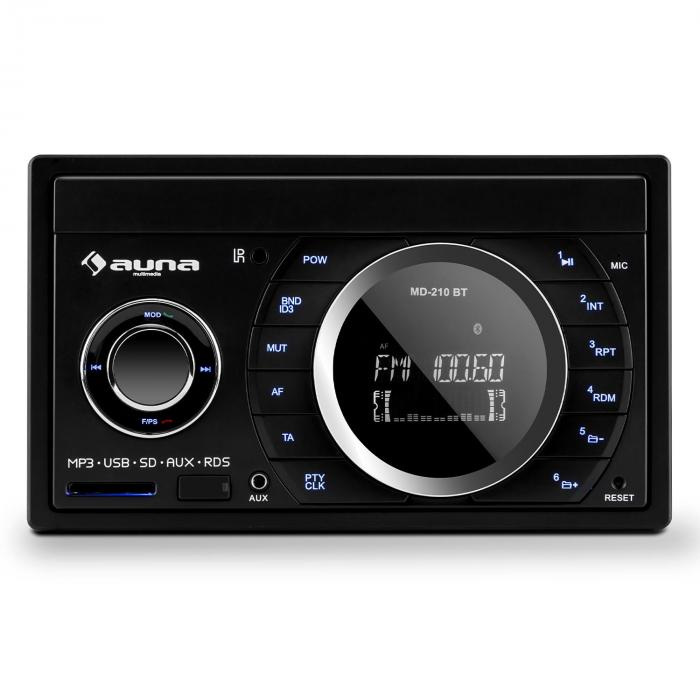 Auna MD-210 BT RDS, 4x 75 W, autorádio, bluetooth, USB, SD, MP3, mikrofon, 2-DIN