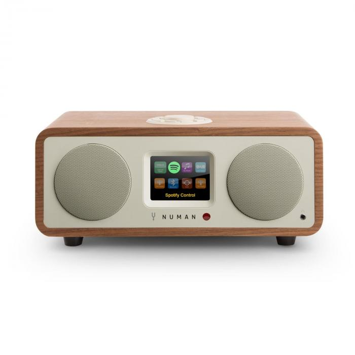 Numan One – 2.1 designové internetové rádio, ořech, 20 W, bluetooth, Spotify Connect, DAB +