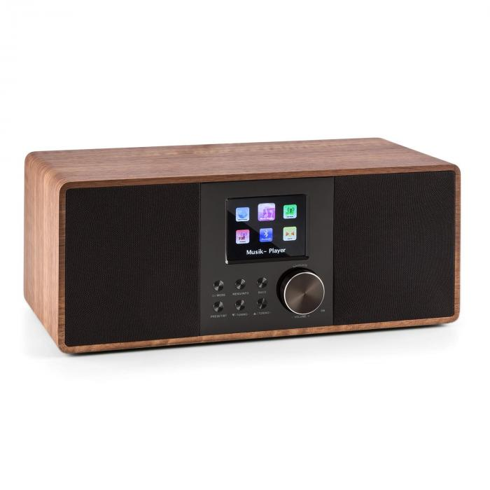 Auna Connect 120, internetové rádio, bluetooth, WLAN, DAB / DAB+, FM, RDS, USB, AUX