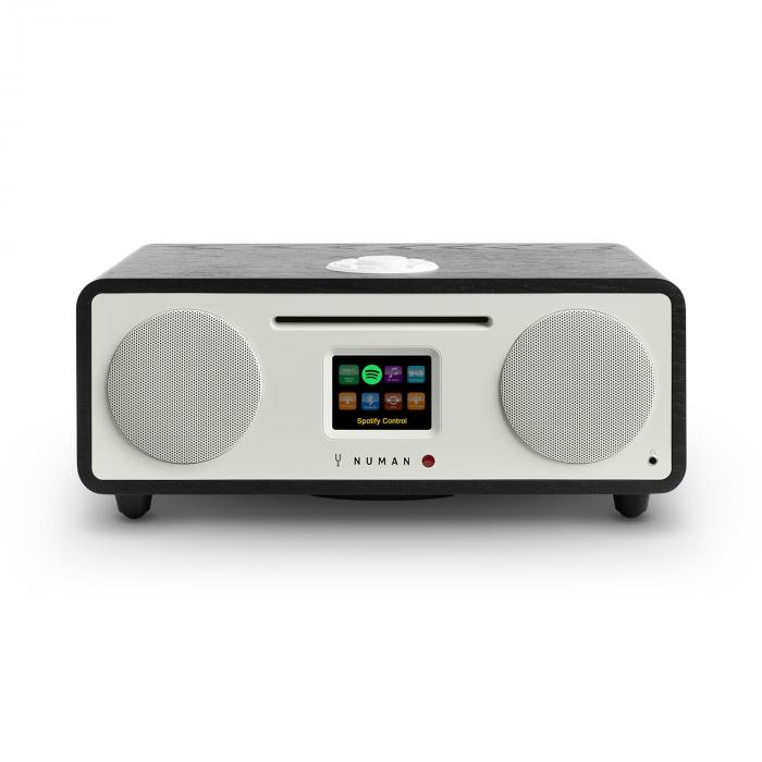 Numan Two, dub, 2.1 internetové rádio, CD, 30 W, USB, bluetooth, Spotify Connect, DAB +, černý dub
