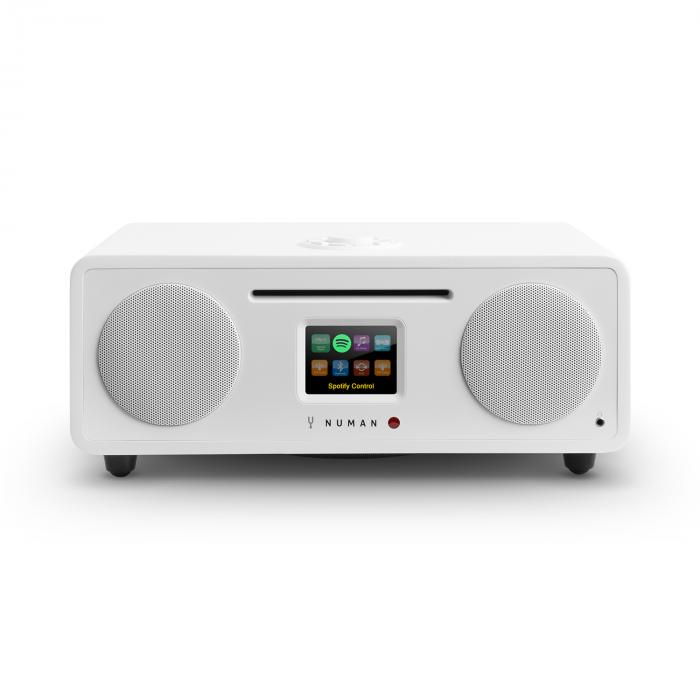 Numan Two, bílé, 2.1 internetové rádio, CD, 30 W, USB, bluetooth, Spotify Connect, DAB +