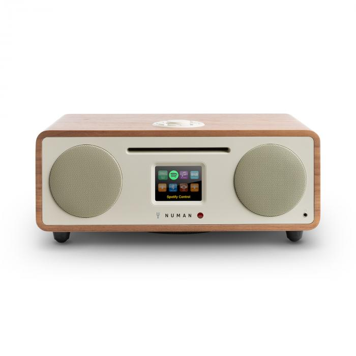Numan Two, ořech, 2.1 internetové rádio, CD, 30 W, USB, bluetooth, Spotify Connect, DAB +