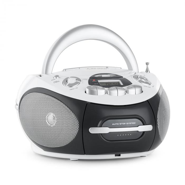 Majestic AH-2387 WH, boombox, rádio rekordér, MP3, USB, CD, FM
