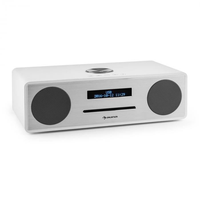 Auna Standford DAB-CD-rádio DAB + bluetooth USB MP3 AUX FM, bílá