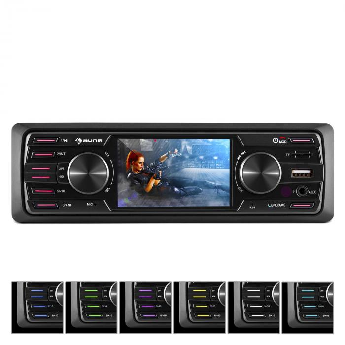 "Auna MD-350B, autorádio, BT, USB, SD, MP3, bez CD mechaniky, 4 x 45 W, 3 ""LCD, AUX"