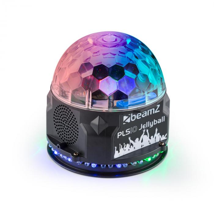 Beamz BeamZ PLS10 Jellyball, 3x 1W LED kruh se 48 RGB LED diodami, BT, MP3 přehrávač