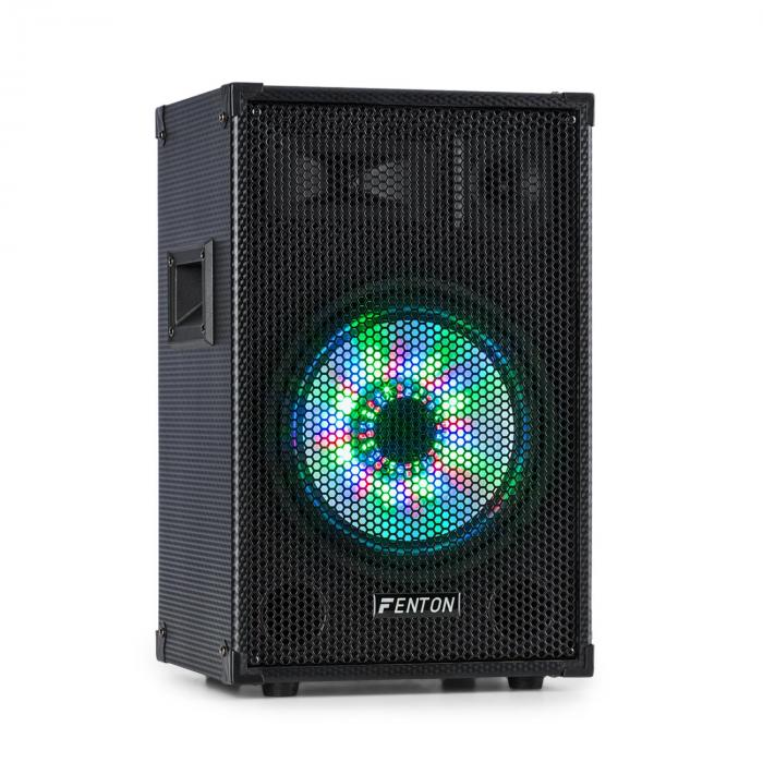 "TL10LED, 3-utas passzív hangfal, RGB-LED, 10"" woofer 500W, tweeter, horn"