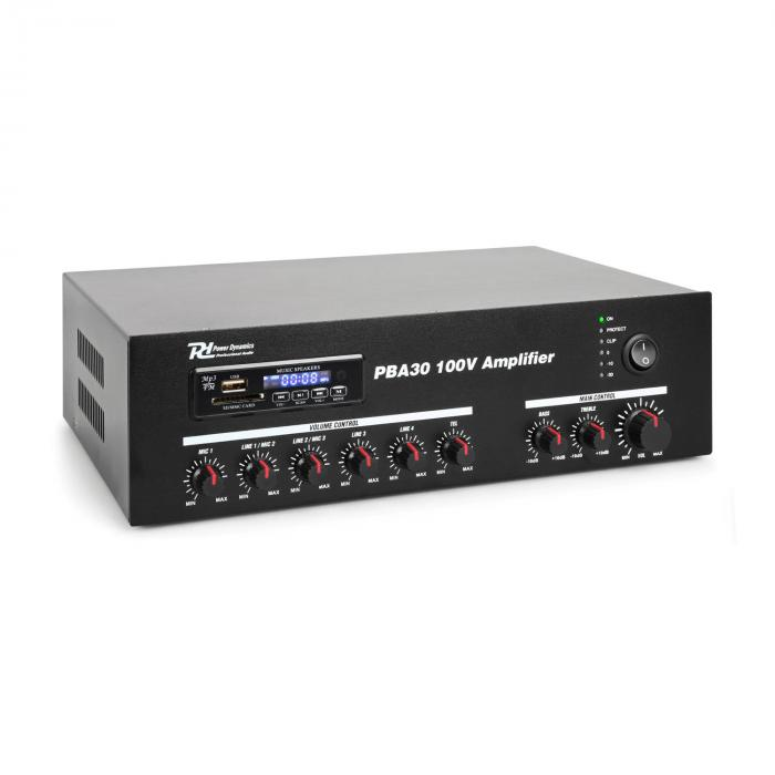 Power Dynamics PBA30 zesilovač 30 W USB/SD MP3 Bluetooth