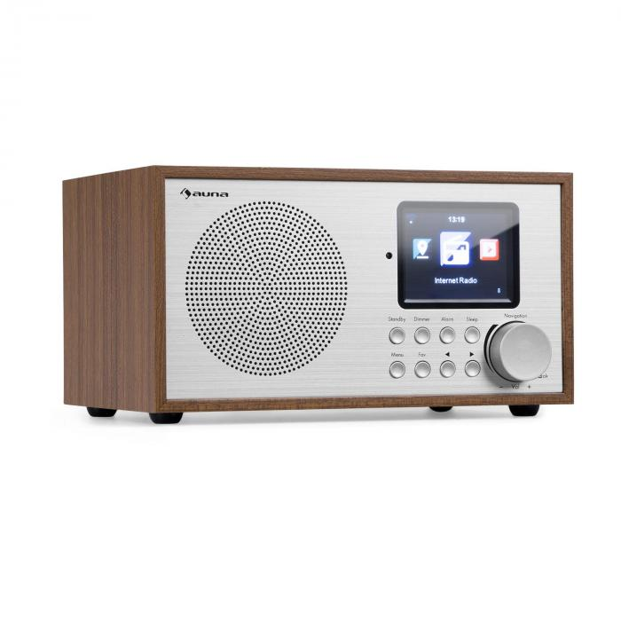 Auna Silver Star Mini, internetové DAB+/FM rádio, WiFi, BT, dub