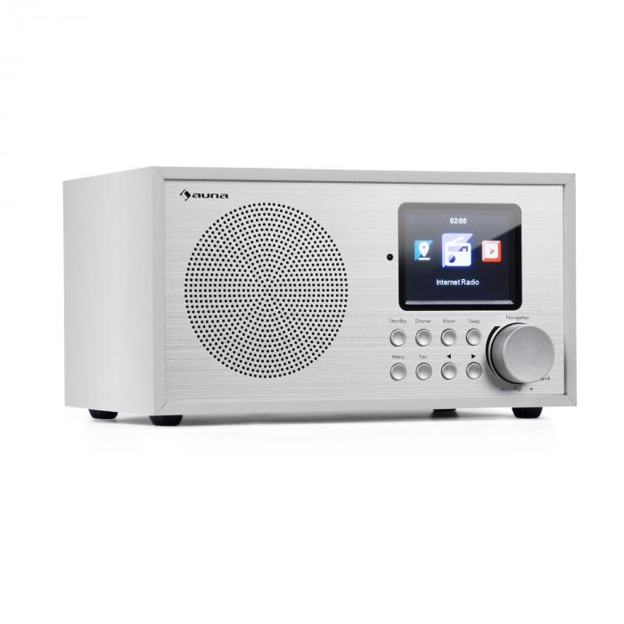 Auna Silver Star Mini, internetové DAB+/FM rádio, WiFi, BT, bílé