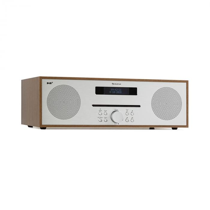 Silver Star CD-DAB, CD-radio, 2 x 20 W max., CD player, FM, DAB+, BT, Alu, smeđi