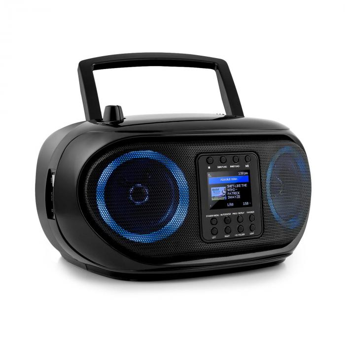 Auna Roadie Smart, boombox, internetové rádio, DAB/DAB+, FM, CD přehrávač, LED, WiFi, bluetooth