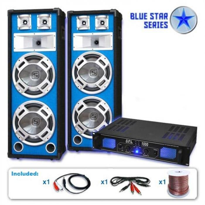 "Electronic-Star PA set Blue Star Series ""Basskern"", 2800 W Electronic-Star"