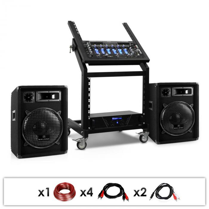 DJ reproduktorové SET RACK STAR SERIES PLUTO GRAVITY 200