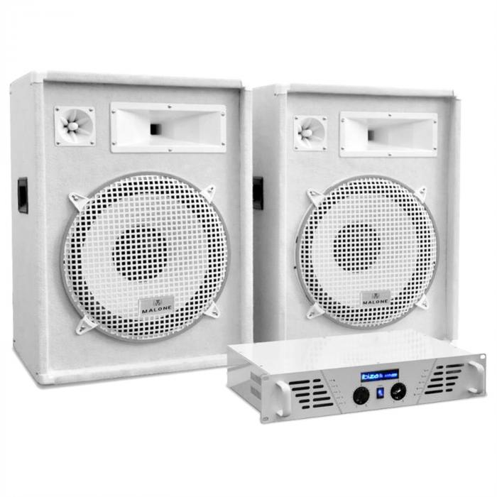 "DJ PA set ""Arctic Frost"" z ""White Star Series"", 1600 W"