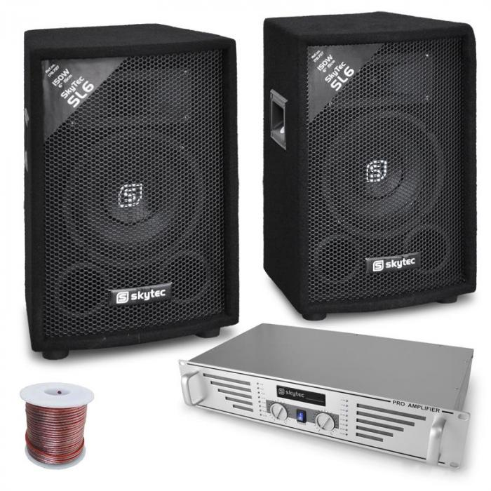 "Set DJ PA ""Rookie"" cutii amplificator 800W"
