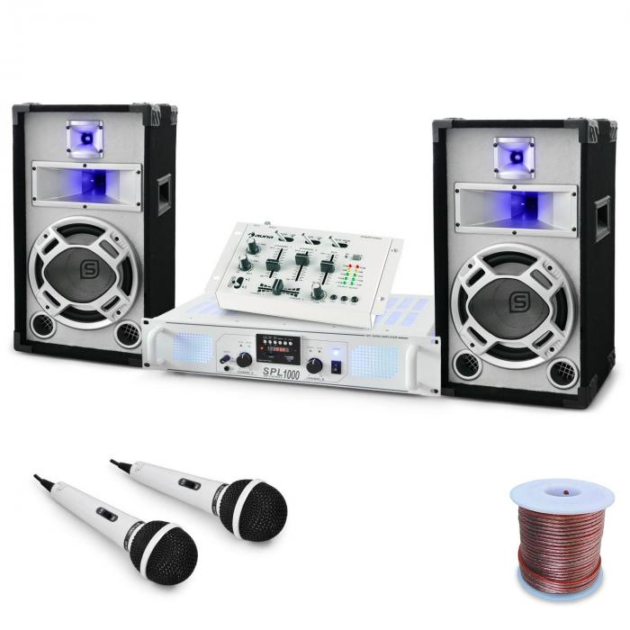 "DJ PA Set de boxe și amplificator ""Polar Fox"" 1500W"