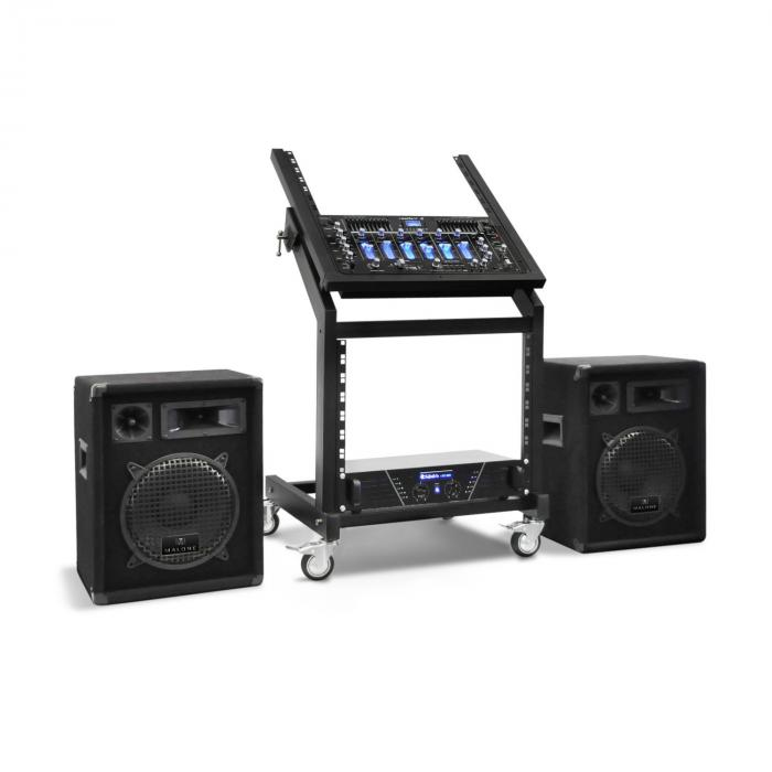 Pluto Gravity, set DJ PA, seria Rack Star, bluetooth, 200 de persoane