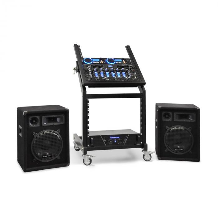 DJ PA Set Seria Rack Star Neptun Palace bluetooth 250 de persoane