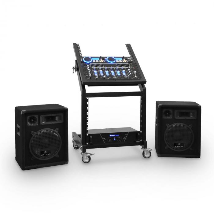 DJ PA Set Seria Rack Star Uranus bluetooth 250 de persoane