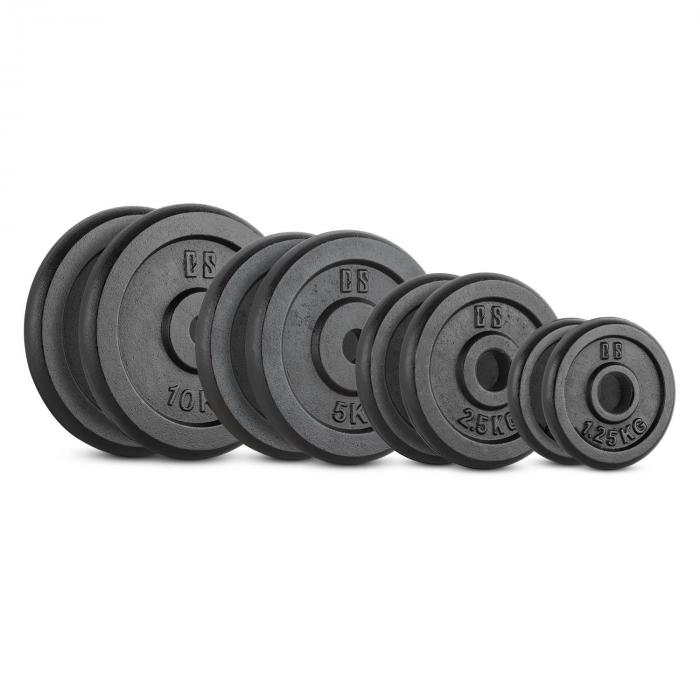 Capital Sports IPB 37,5 kg Set, sada závaží na činky, 30 mm