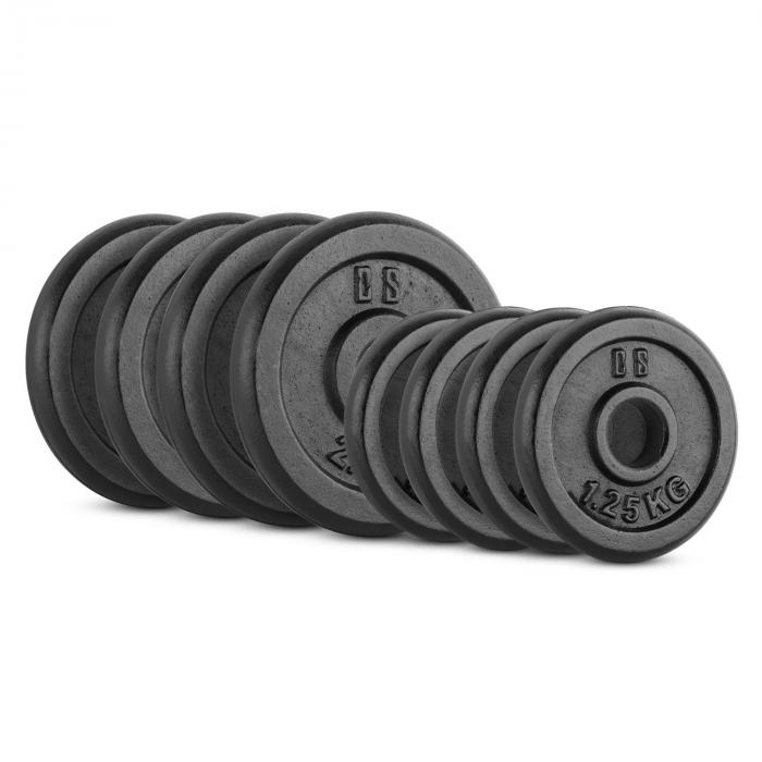Capital Sports IPB 15 kg Set, sada závaží na činky, 4 x 1,25 kg + 4 x 2,50 kg, 30 mm
