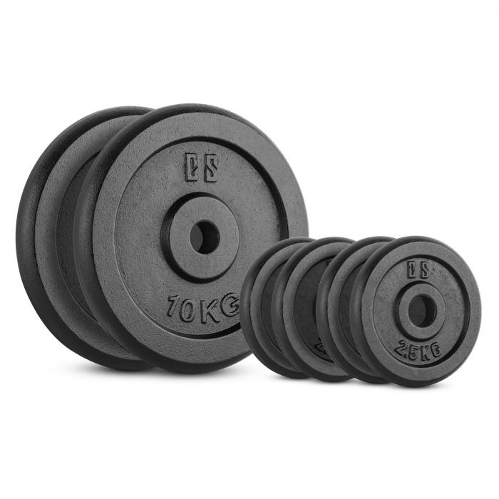 CAPITAL SPORTS IPB 30 kg Set, sada závaží na činky, 4x 2,5 kg + 2x 10 kg, 30 mm