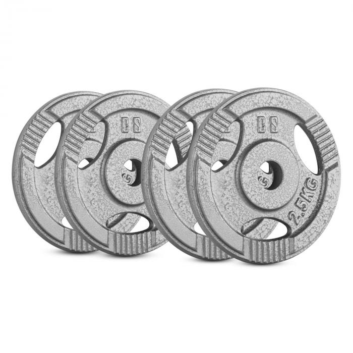 Capital Sports IP3H 10 kg Set, sada závaží na činky, 4x 2,5 kg, 30 mm