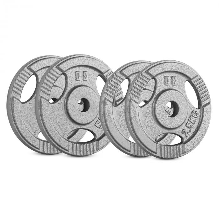 Capital Sports IP3H 15 kg Set, sada závaží na činky, 2x 2,5 kg + 2x 5 kg, 30 mm
