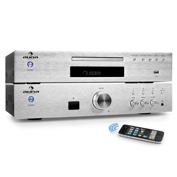 """ELEGANCE TOWER BLUETOOTH"", SREBRNA, 2.0 HIFI SET, MP3-CD PLAYER + POJAČALO 600 W"