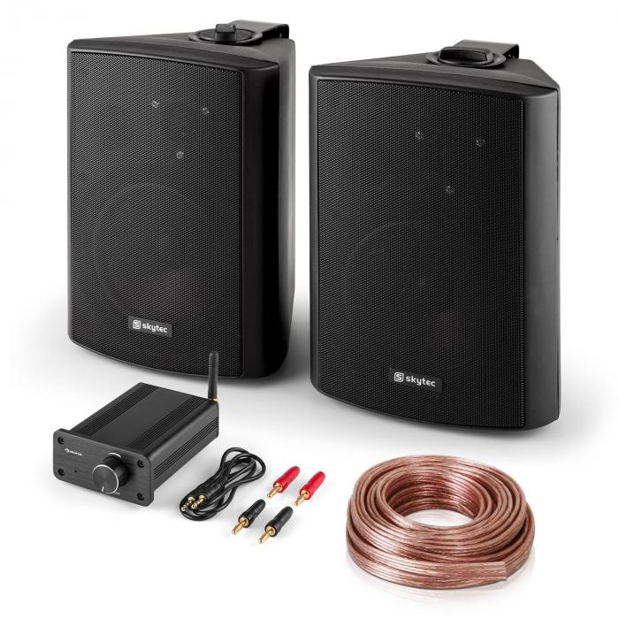 Bluetooth Play BK, PA HiFi set, dva reproduktory, mini zosilňovač s bluetooth, kábel