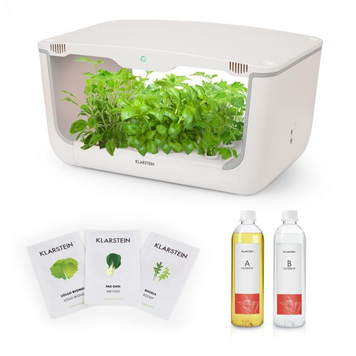 GrowIt Farm Starter Kit Salad, 28 rostlin, 48 W, 8 l, semena Salad Seeds, živný roztok