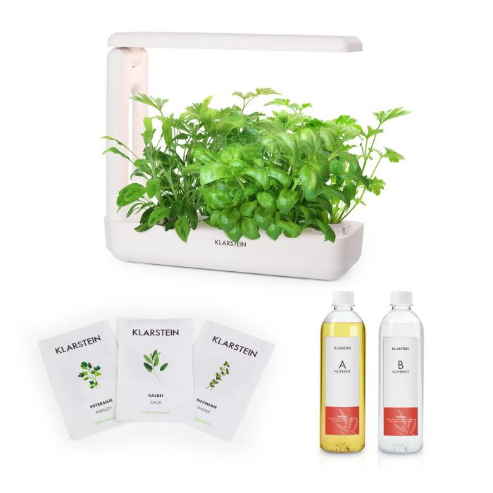 GrowIt Cuisine Starter Kit Europa, 10 priesad, 25 W LED, 2 l, Europe Seeds, živný roztok
