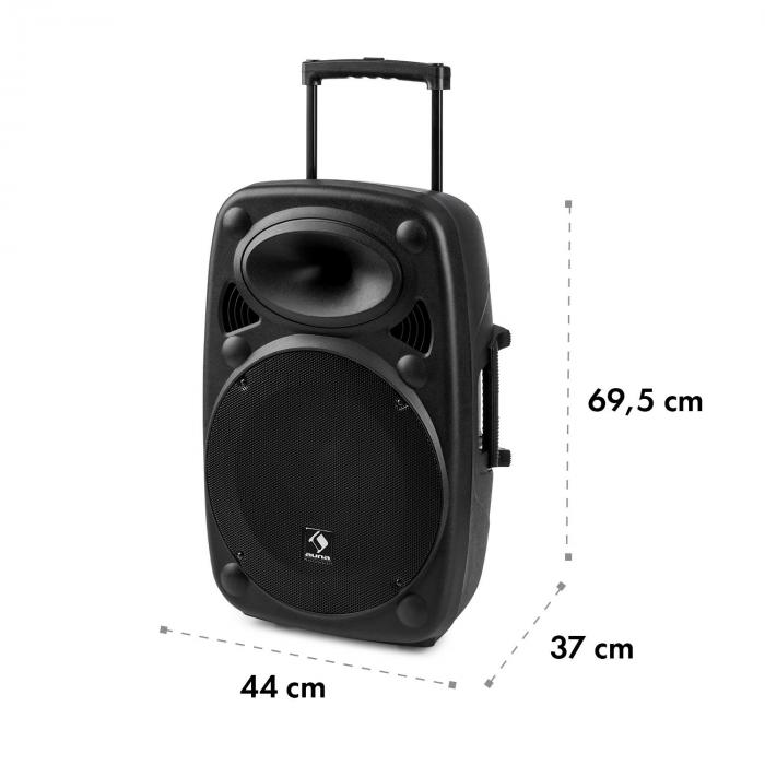 "Streetstar 15 mobilni PA uređaj15"" subwoofer trolley BT USB/SD/MP3 AUX"