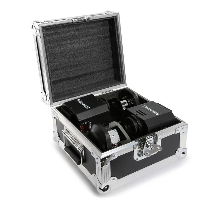 3-IN1-PocketScan LED SETsložen z2 Scanner & FLIGHTCASE a kufříku 12W-CREE-LED 7 BAREV