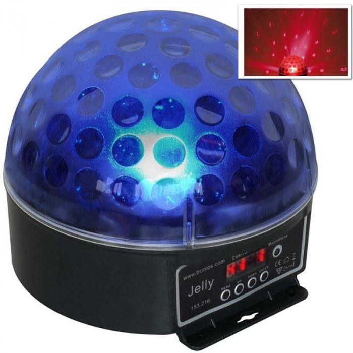 "4 x DJ kugla ""Beamz Magic Jelly"" LED svjetlosni efekt, RGB, DMX"