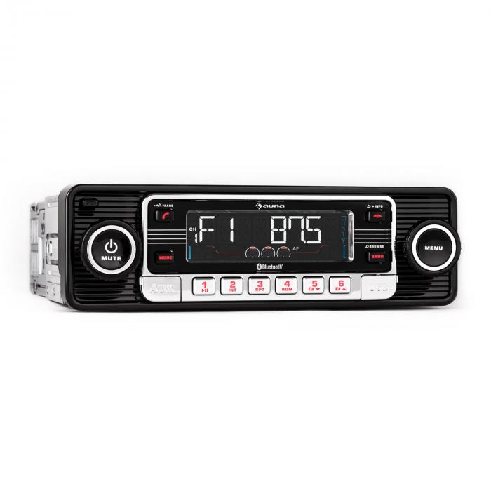 TCX-1-RMDRadio Bluetooth USB SD MP3 AUX negru CD Retro