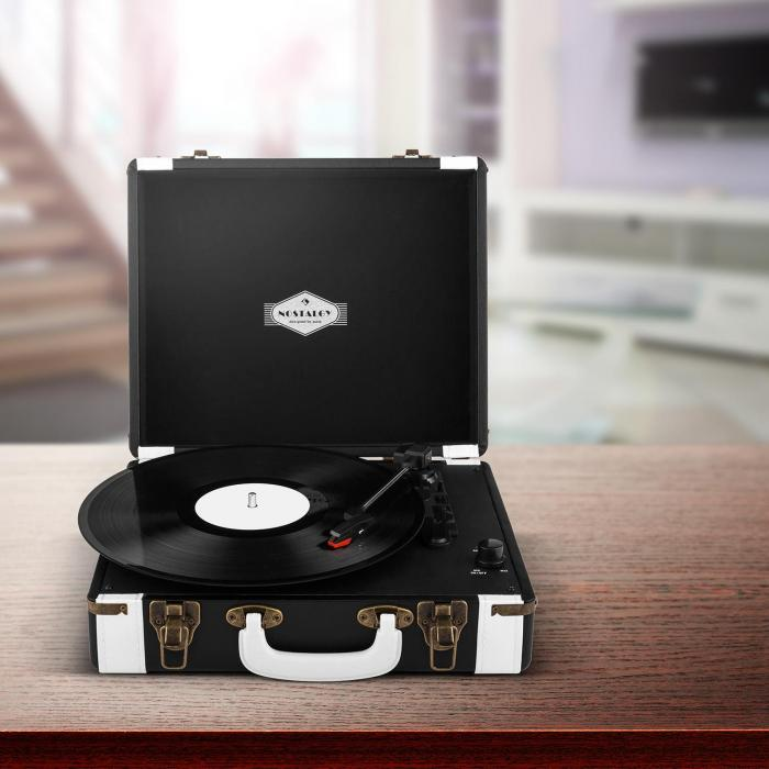Jerry Lee Record Collector Set black | retro gramofon | kufřík na gramofonové desky