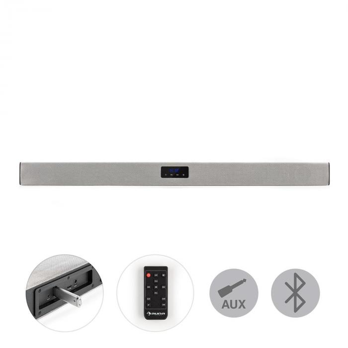 Areal Bar 150, argintiu, sound bar, bluetooth, USB, SD, 2 x AUX, inclusiv telecomandă