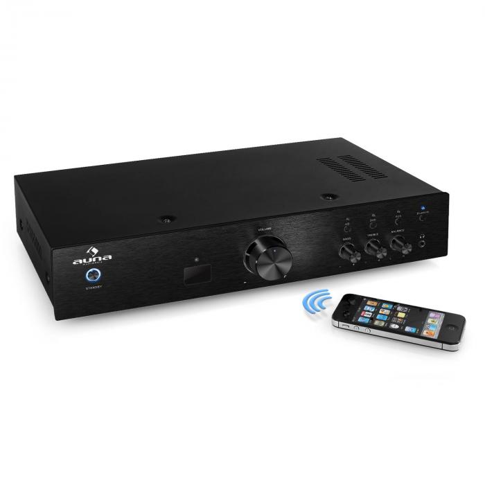 AV2-CD508BT,amplificator HiFi negru, AUX, bluetooth