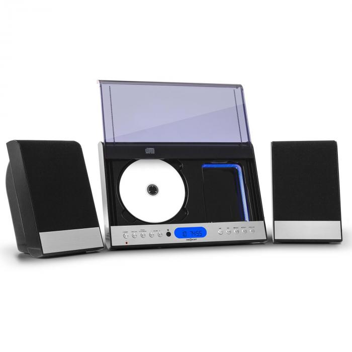 Vertical 90, stereo systém, CD, USB, MP3, SD, AUX, čierny