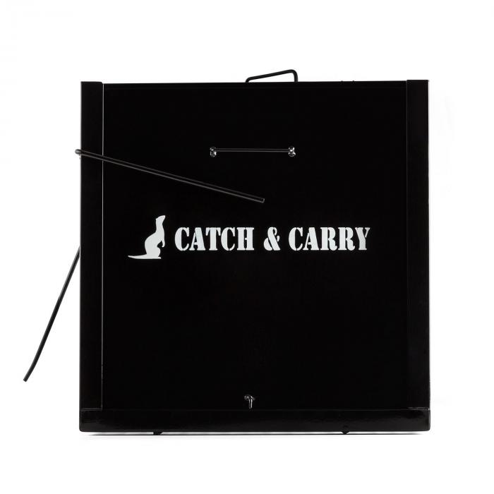 Catch & Carry L, černá, past na kuny, 30x30x75 cm, 2 mm, ocel