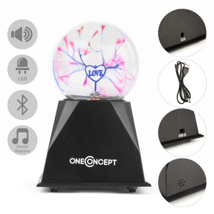 Magicball Speaker, bluetooth plazmová koule, reproduktor, USB, LED